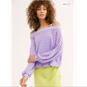 Free People Sistine Hacci Top in Orchid NWT